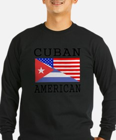 Cuban American Flag Long Sleeve T-Shirt
