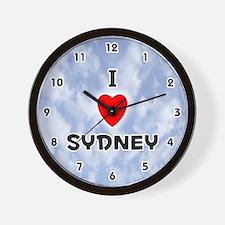 I Love Sydney (Black) Valentine Wall Clock