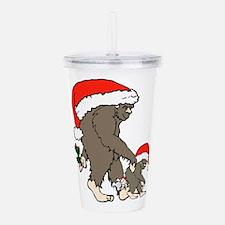 Christmas Bigfoot Fami Acrylic Double-wall Tumbler