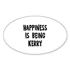 Happiness is being Kerry Oval Decal