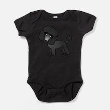 Cute Poodle Black Coat Body Suit
