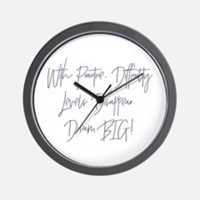 Disappearing Difficulties Wall Clock