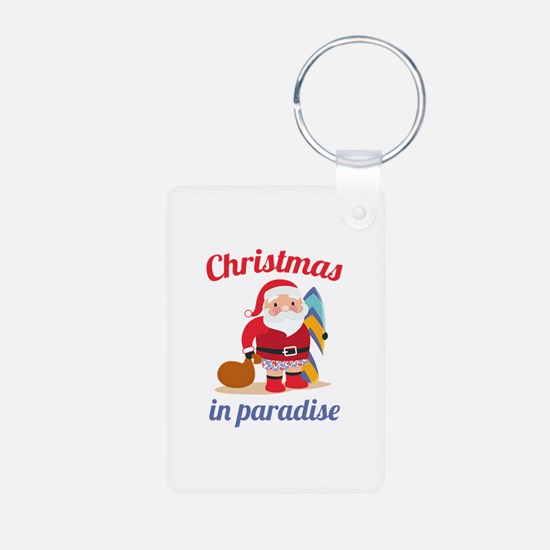 Christmas In Paradise Keychains