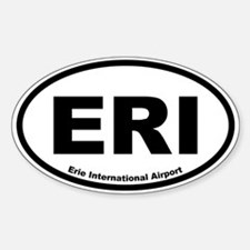 Erie International Airport Oval Decal
