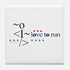 Love to run Tile Coaster
