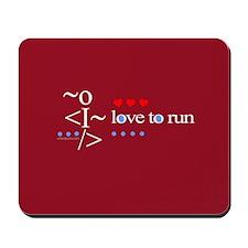 Love to run Mousepad