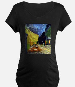 Cafe Terrace at Night by Van Gog Maternity T-Shirt