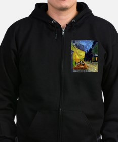 Cafe Terrace at Night by Van Gogh Sweatshirt