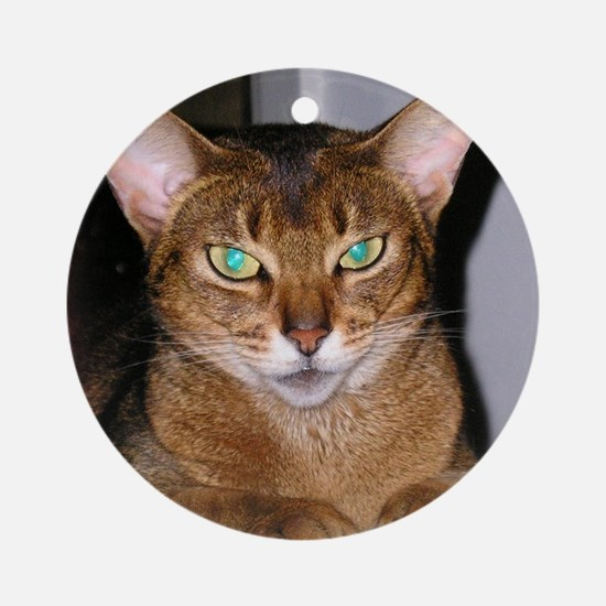 Abyssinian Round Ornament
