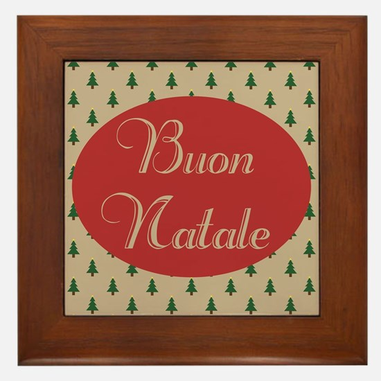 Buon Natale - Italian Merry Christmas Framed Tile