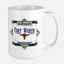 Fort Worth Flag Mugs