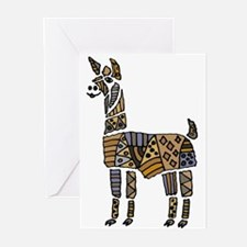 Llama Art Greeting Cards