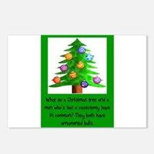 Christmas Vasectomy - Orn Postcards (Package of 8)