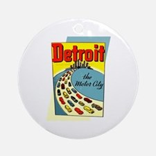 Detroit - The Motor City Round Ornament