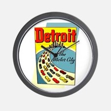 Detroit - The Motor City Wall Clock