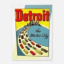 Detroit - The Motor City 5'x7'Area Rug
