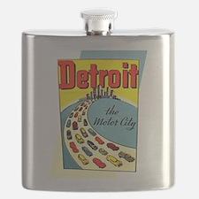 Detroit - The Motor City Flask