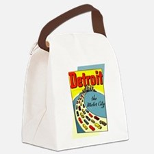 Detroit - The Motor City Canvas Lunch Bag