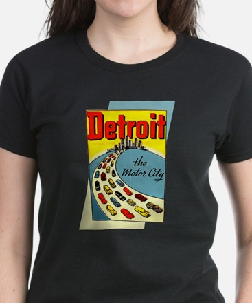 Detroit - The Motor City Women's Dark T-Shirt