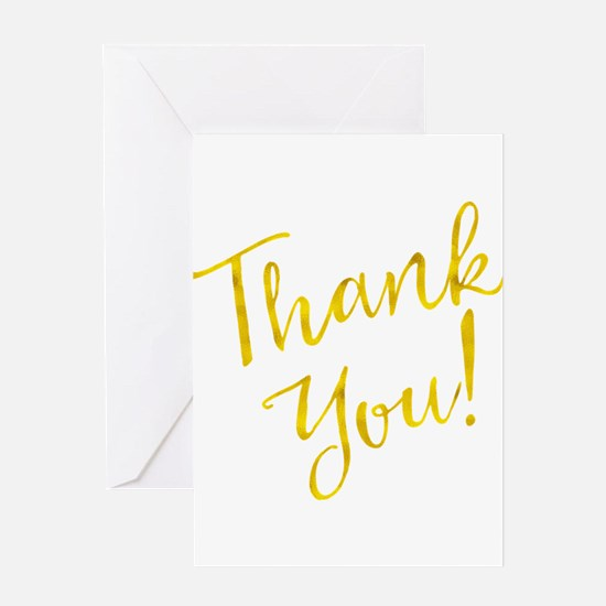 Thank You Gold Faux Foil Motivation Greeting Cards