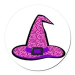 Pinky Witch Round Car Magnet