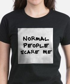 Normal People Scare Me Women's Pink T-Shirt