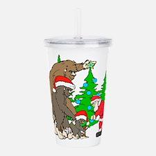 Bigfoot family meet Sa Acrylic Double-wall Tumbler