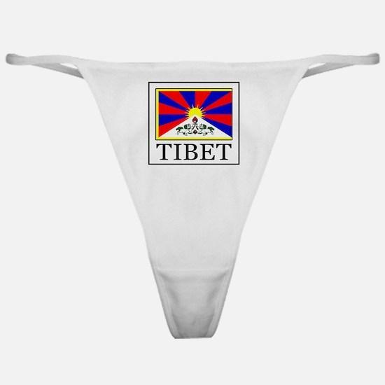 Cute I love tibet Classic Thong
