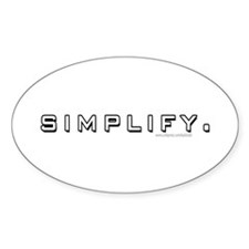 Simplify... Oval Decal