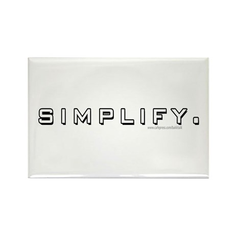 Simplify... Rectangle Magnet (100 pack)