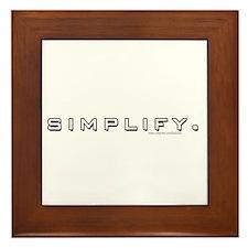 Simplify... Framed Tile