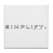 Simplify... Tile Coaster