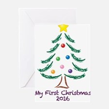 My First Christmas 2016 Greeting Card