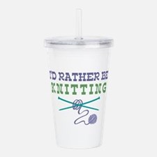 Rather Be Knitting Acrylic Double-wall Tumbler