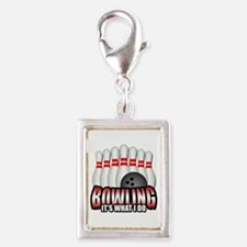 Bowling it's what I do Silver Portrait Charm