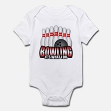 Bowling it's what I do Infant Bodysuit