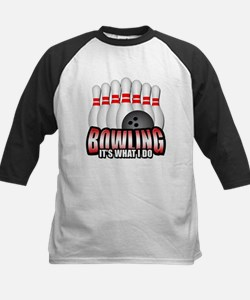 Bowling it's what I do Kids Baseball Jersey