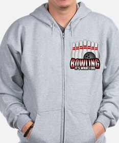 Bowling it's what I do Zip Hoodie