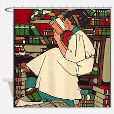 Cute Libraries Shower Curtain