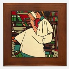 Unique Fun library Framed Tile