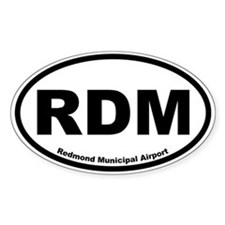 Redmond Municipal Airport Oval Decal