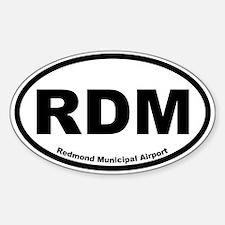 Redmond Municipal Airport Oval Decal