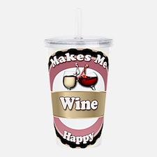 Wine Happy Acrylic Double-wall Tumbler