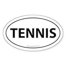 Tennis Auto Decal -White (Oval)