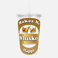 Whiskey Happy Acrylic Double-wall Tumbler