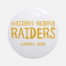 Western Reserve Raiders Round Ornament
