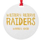 Western Reserve Raiders Round Ornament