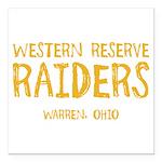 Western Reserve Raiders Square Car Magnet 3