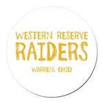 Western Reserve Raiders Round Car Magnet