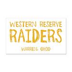 Western Reserve Raiders Rectangle Car Magnet